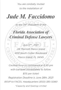 Florida Association of Criminal Defense Lawyers Invitation